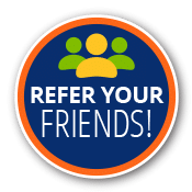 refer your friends button