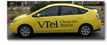We use fuel-efficient vehicles for less impact on the environment